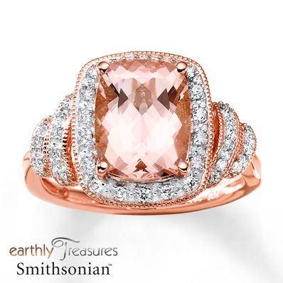 This is the ring of my dreams Morganite Ring 1/5 ct tw Diamonds 14K Rose Gold