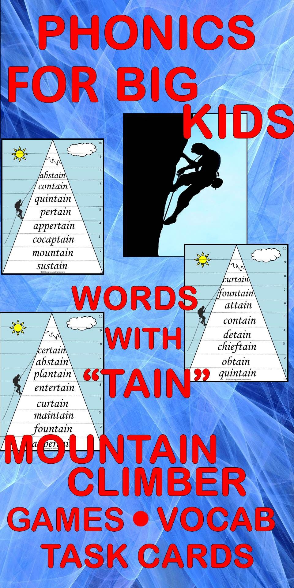 Do You Pronounce Tain With A Long A Sound Or A Schwa Sound Students Will Learn New Words Ending In Tain Through Repeated Ex Phonics Learning Phonics Words [ 1920 x 960 Pixel ]