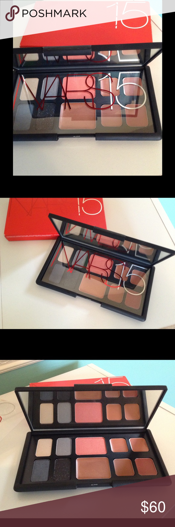 Limited Edition Nars Anniversary Palette Nars limited edition anniversary palette, this palette has ALL of Nars Best Sellers from eyeshadow shades, to blush, bronzer and lipstick shades. You can create so many looks using this face palette NARS Makeup Eyeshadow