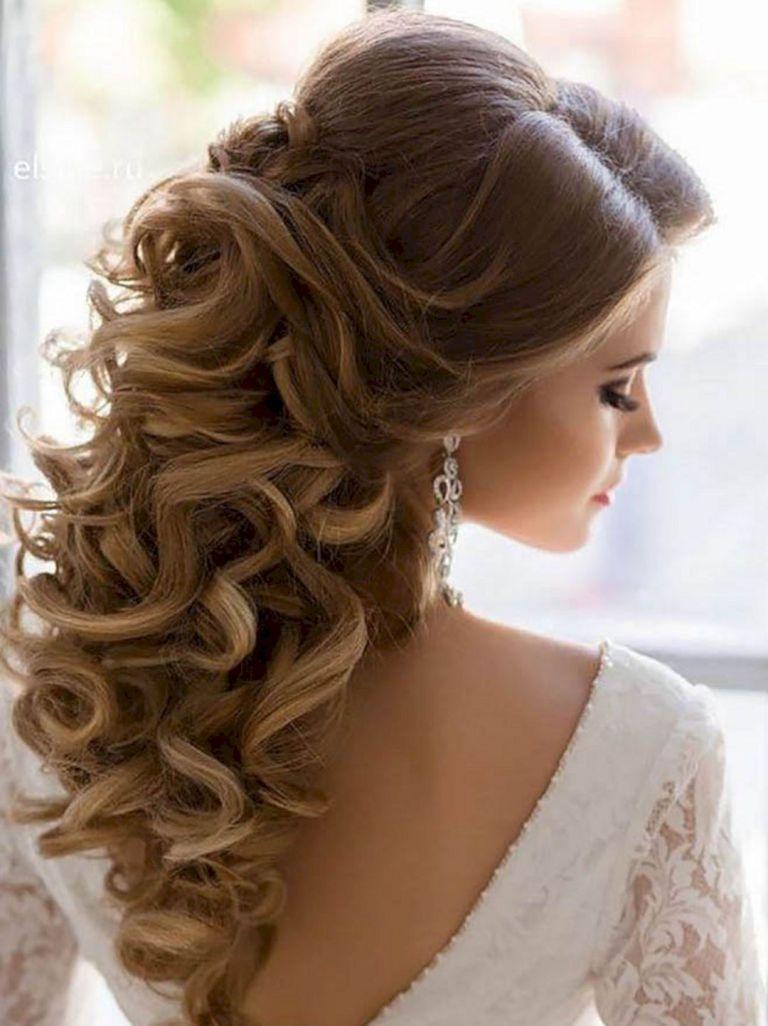 stunning half up half down wedding hairstyles ideas no 46