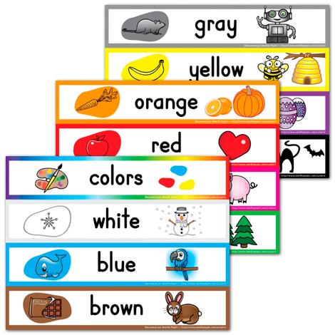 Nombreux fichiers gratuits dont affiches sur les couleurs for Fenetre en anglais