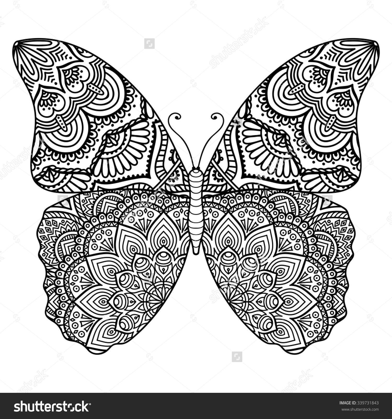 Resultado de imagen para mandala de mariposa para pintar ...