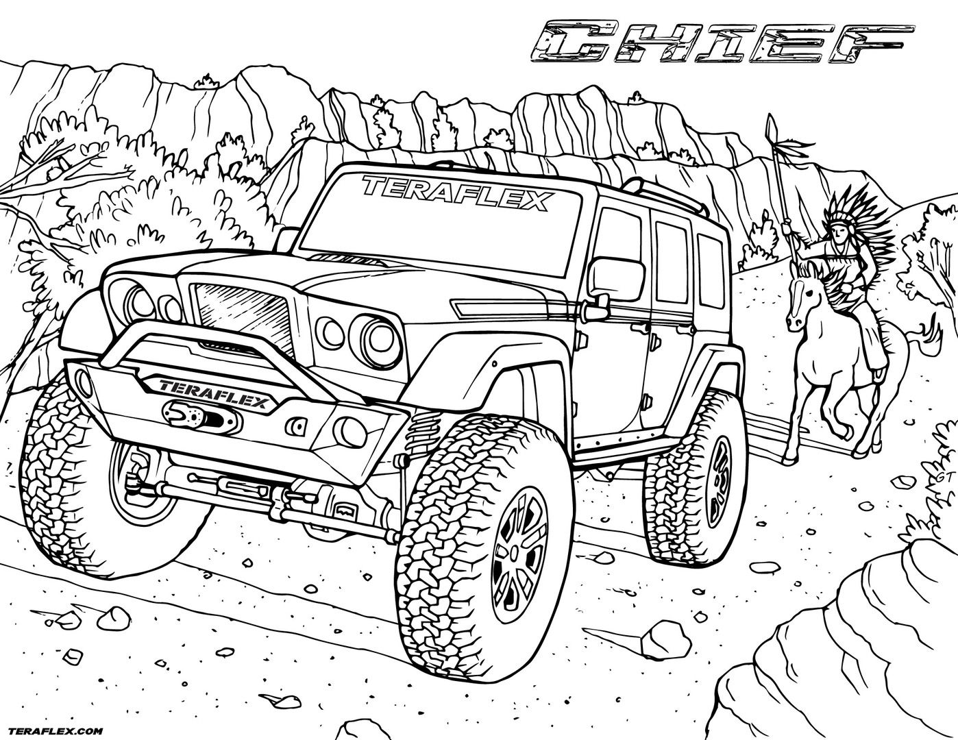 Gallery Teraflex Jeep Coloring Pages Teraflex Truck Coloring Pages Coloring Pages Cars Coloring Pages