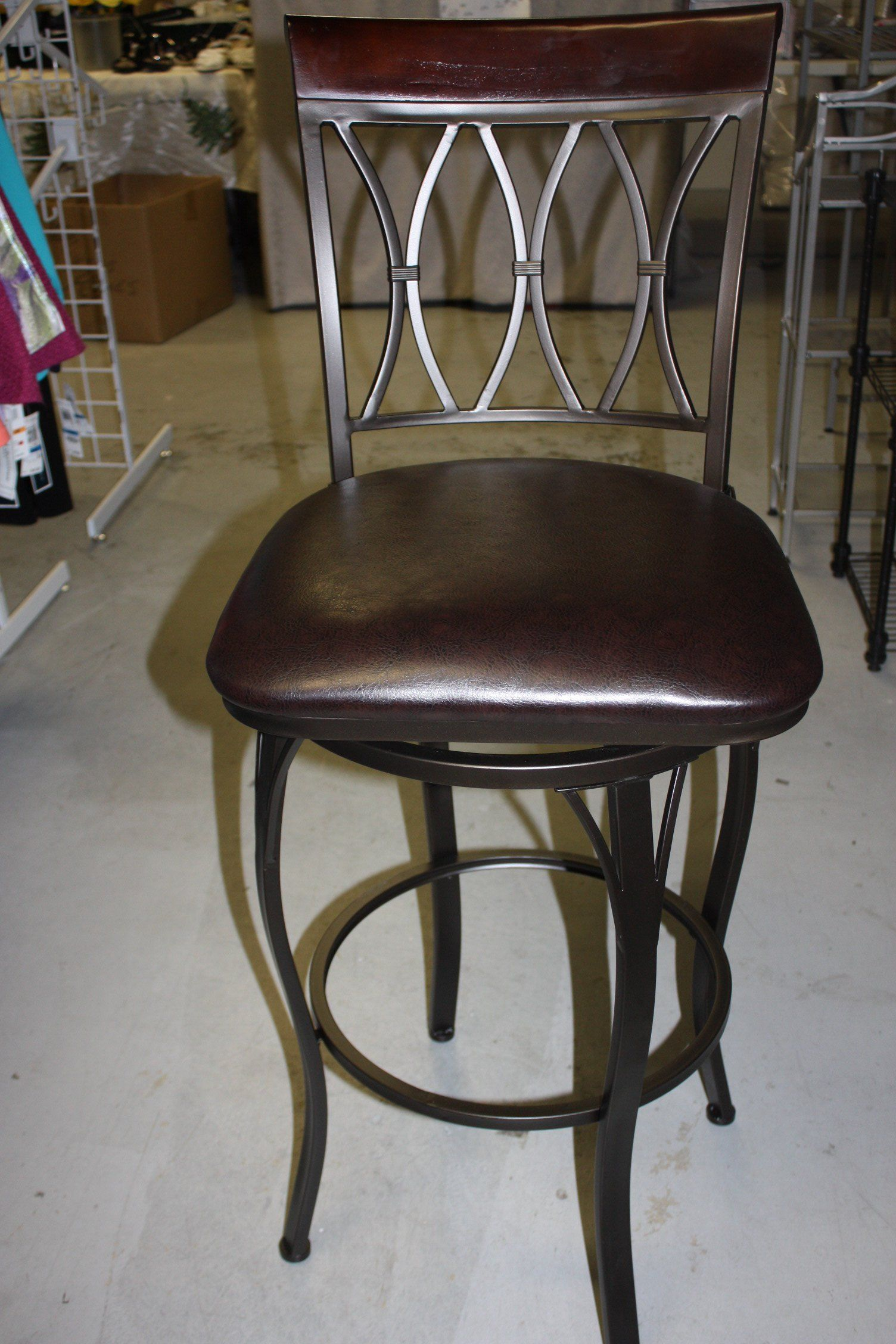 Teak Swivel Barstool With Curved Seat 30 Inch Bar Stools Swivel Bar Stools Wine Barrel Bar Stools