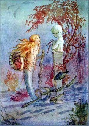 Vintage Mermaid Illustration Margaret Tarrant Mermaid