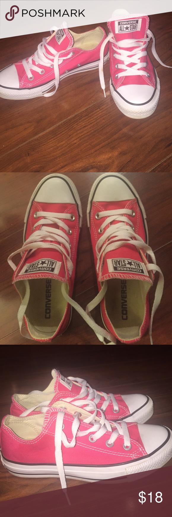 Hot pink converse Hot pink converse Converse Shoes Sneakers