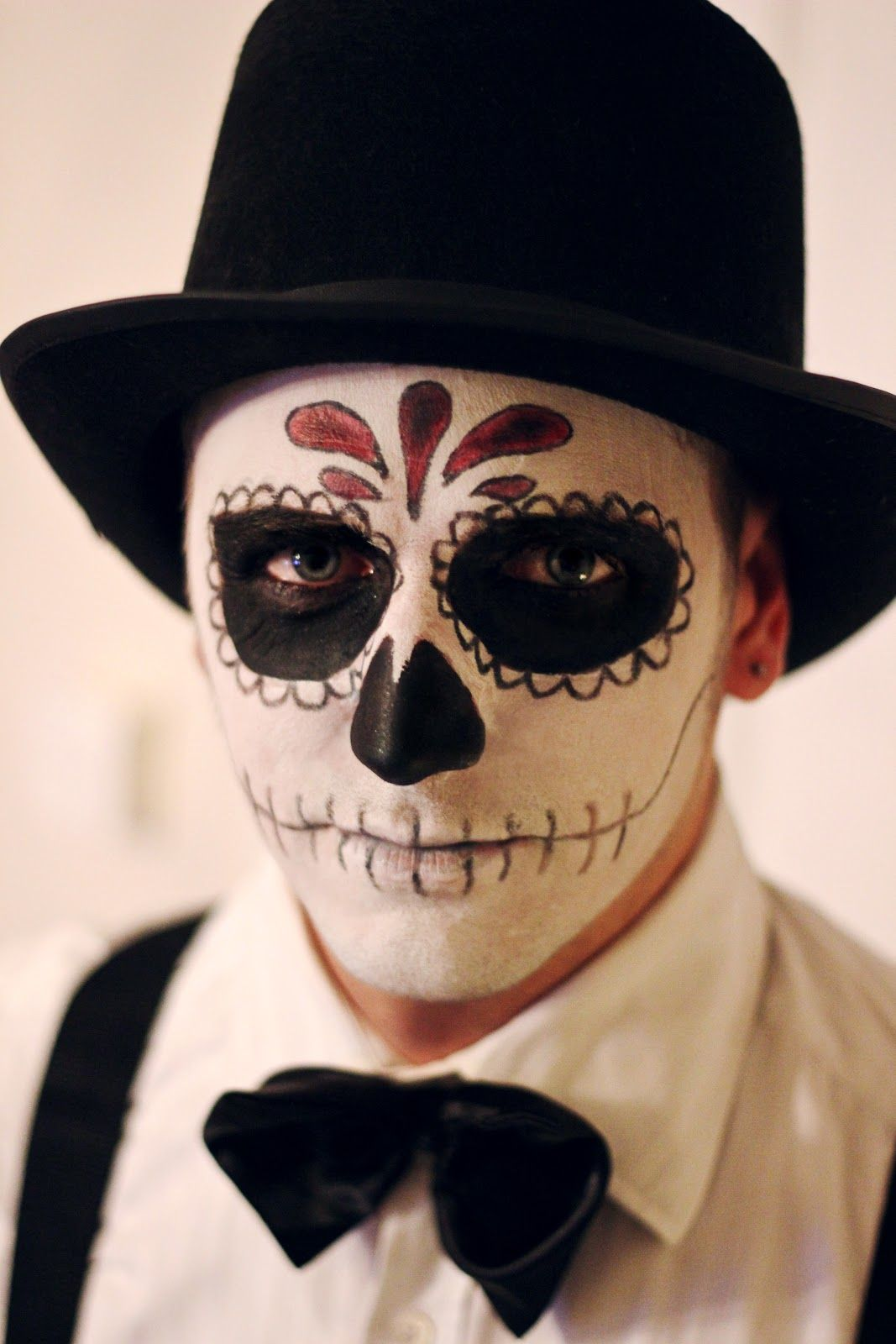 Day of the dead makeup for men costumes pinterest dead day of the dead makeup for men baditri Images