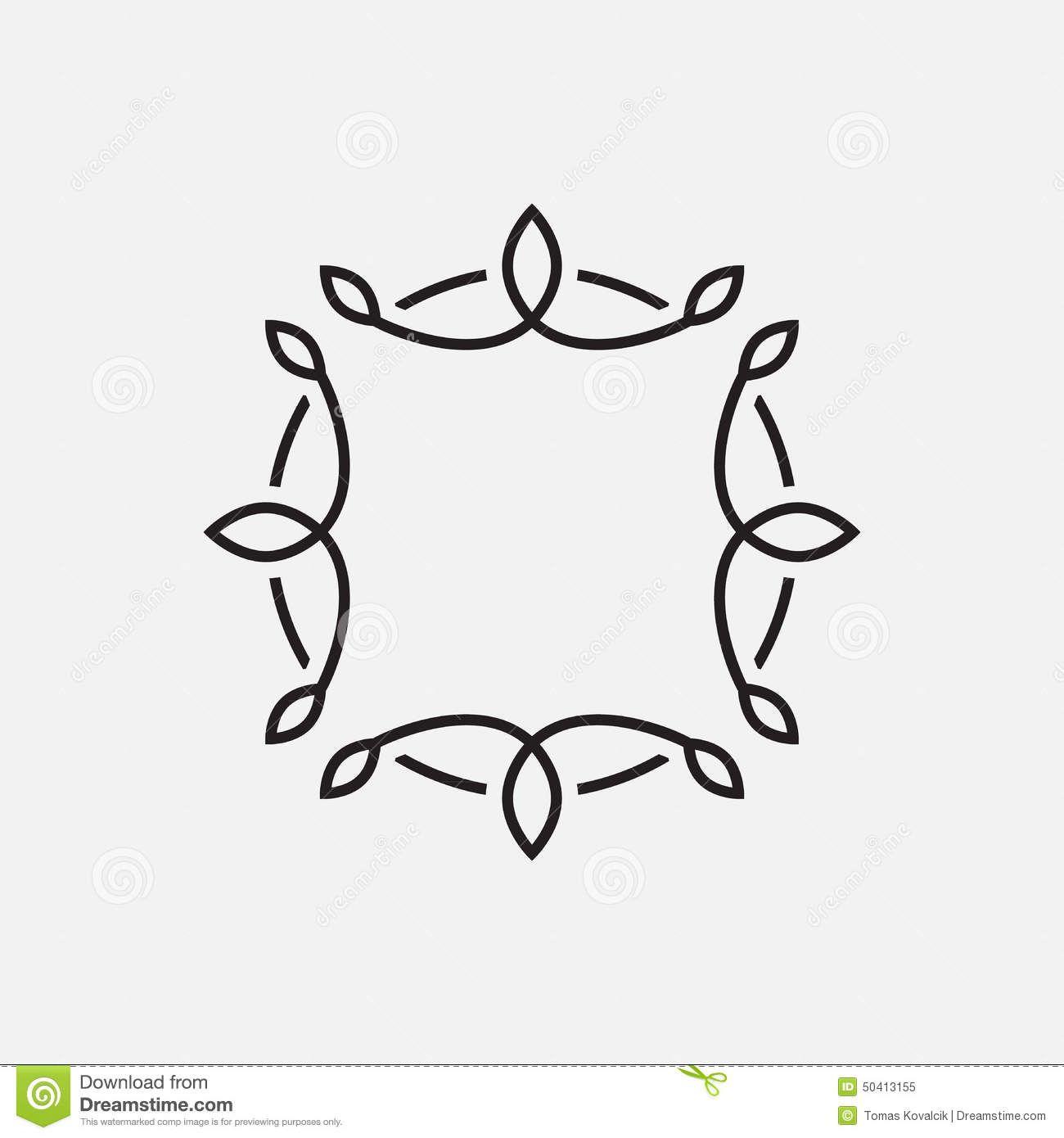 Monogram Frame Template Stock Vector - Image: 50413155