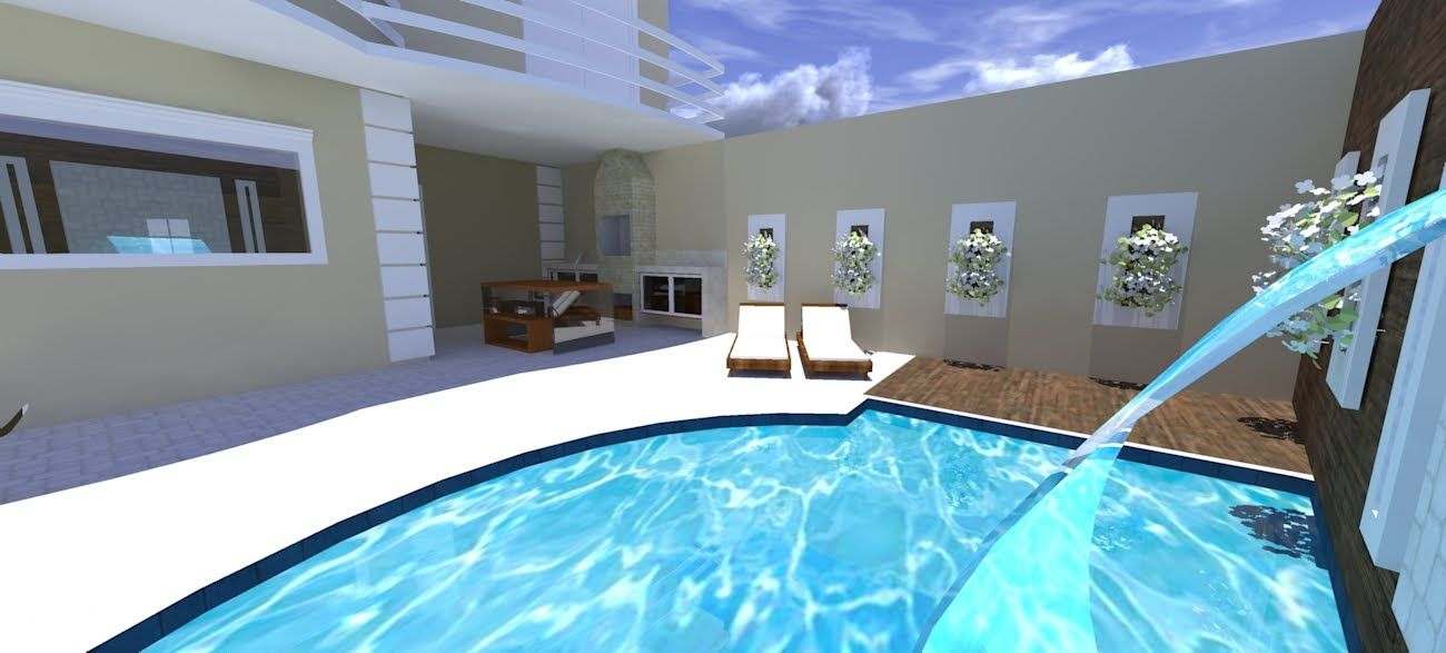 Area De Lazer Simples Com Piscina 13 Modelos Area De Lazer