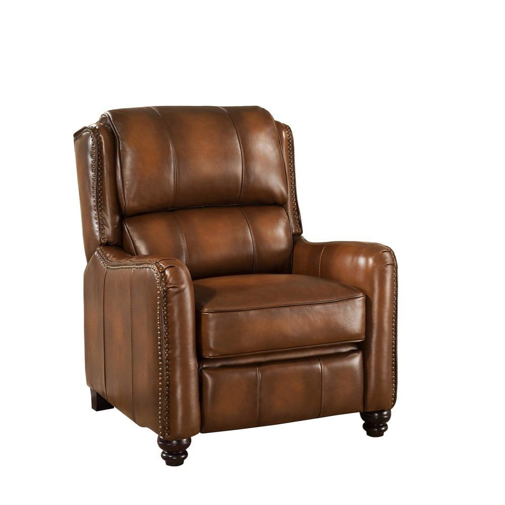 Amazing Lowry Vintage Brown Premium Top Grain Leather Recliner Chair Bralicious Painted Fabric Chair Ideas Braliciousco