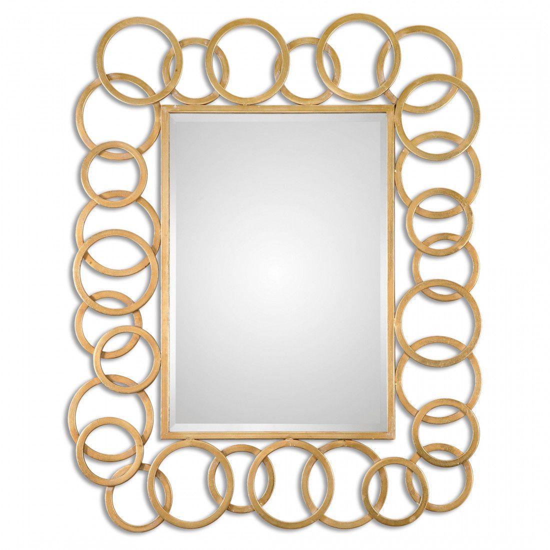 Uttermost Amena Gold Rings Mirror Allison Dining Area
