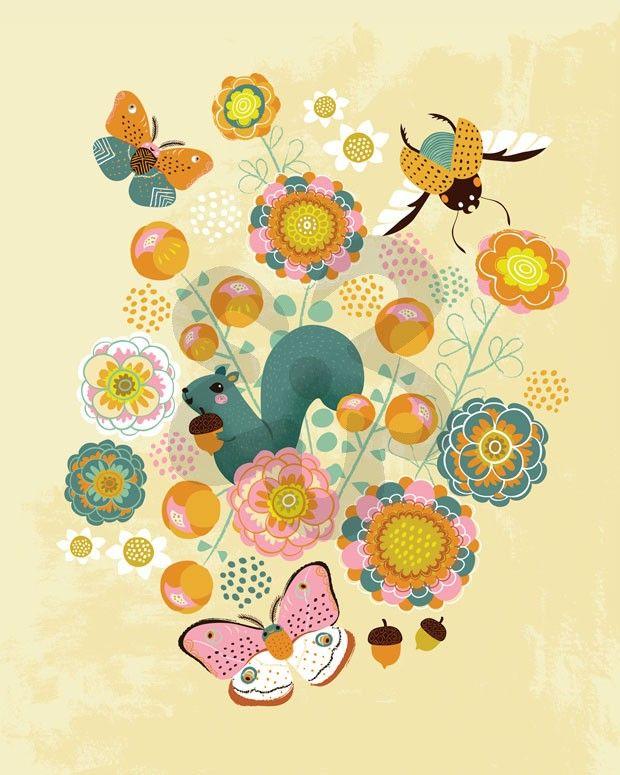 Woodland Critters, Bugs & Butterflies Canvas Wall Art | Oopsy daisy