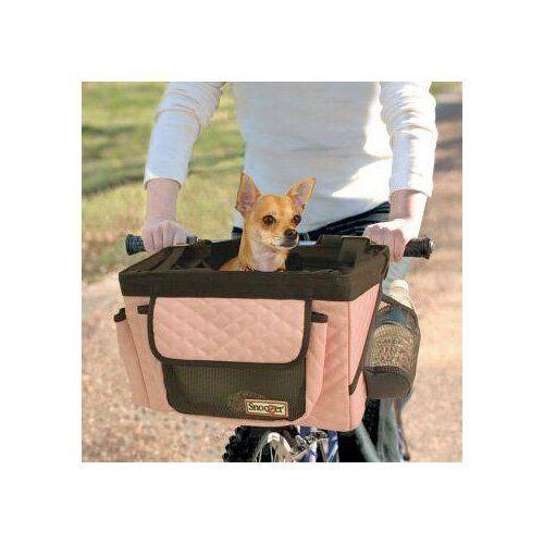 Snoozer Buddy Bike Basket In Pink Black Dog Bike Basket Dog