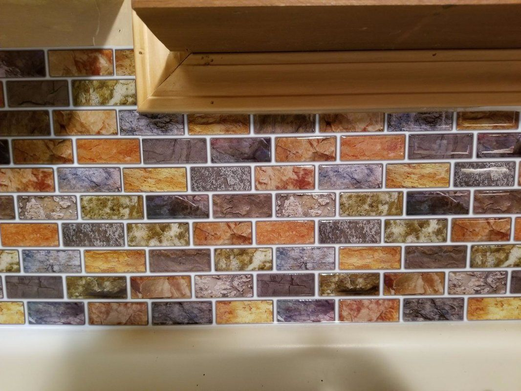 12 X 12 Pvc Peel Stick Subway Tile Stick On Tiles Peel And Stick Tile Mosaic Tiles
