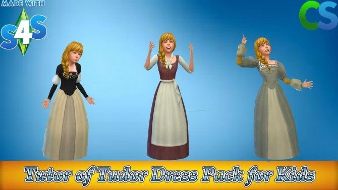 Tutor of Tudor Dress Pack by cepzid at SimsWorkshop