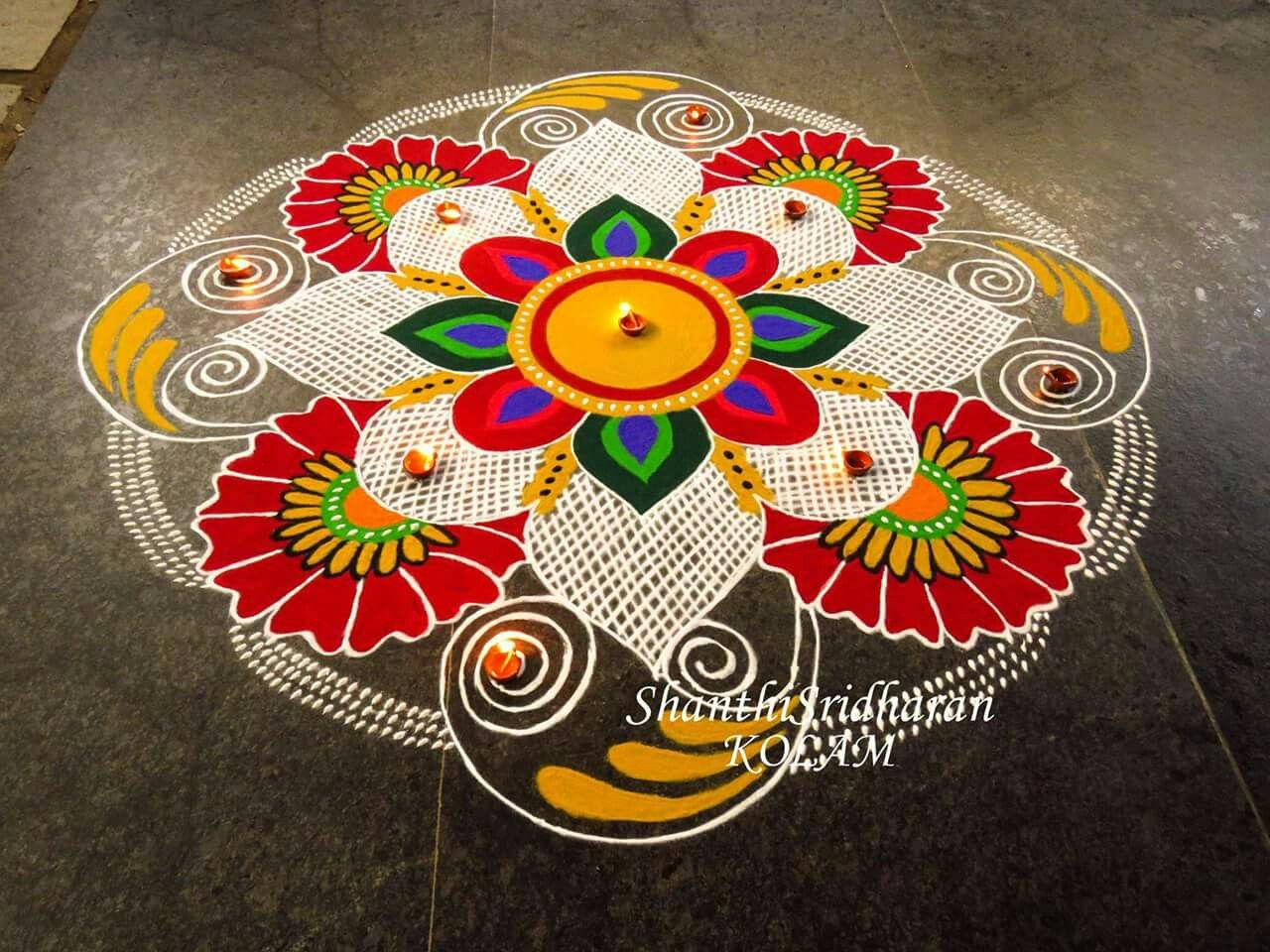 India with Colors of Love ️ Indian rangoli designs