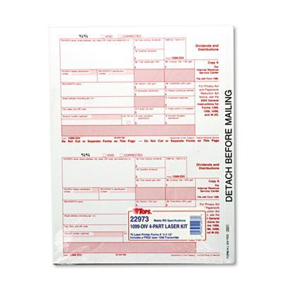Tops Business Forms Irs Approved Tax Form Four Part Carbonless 75