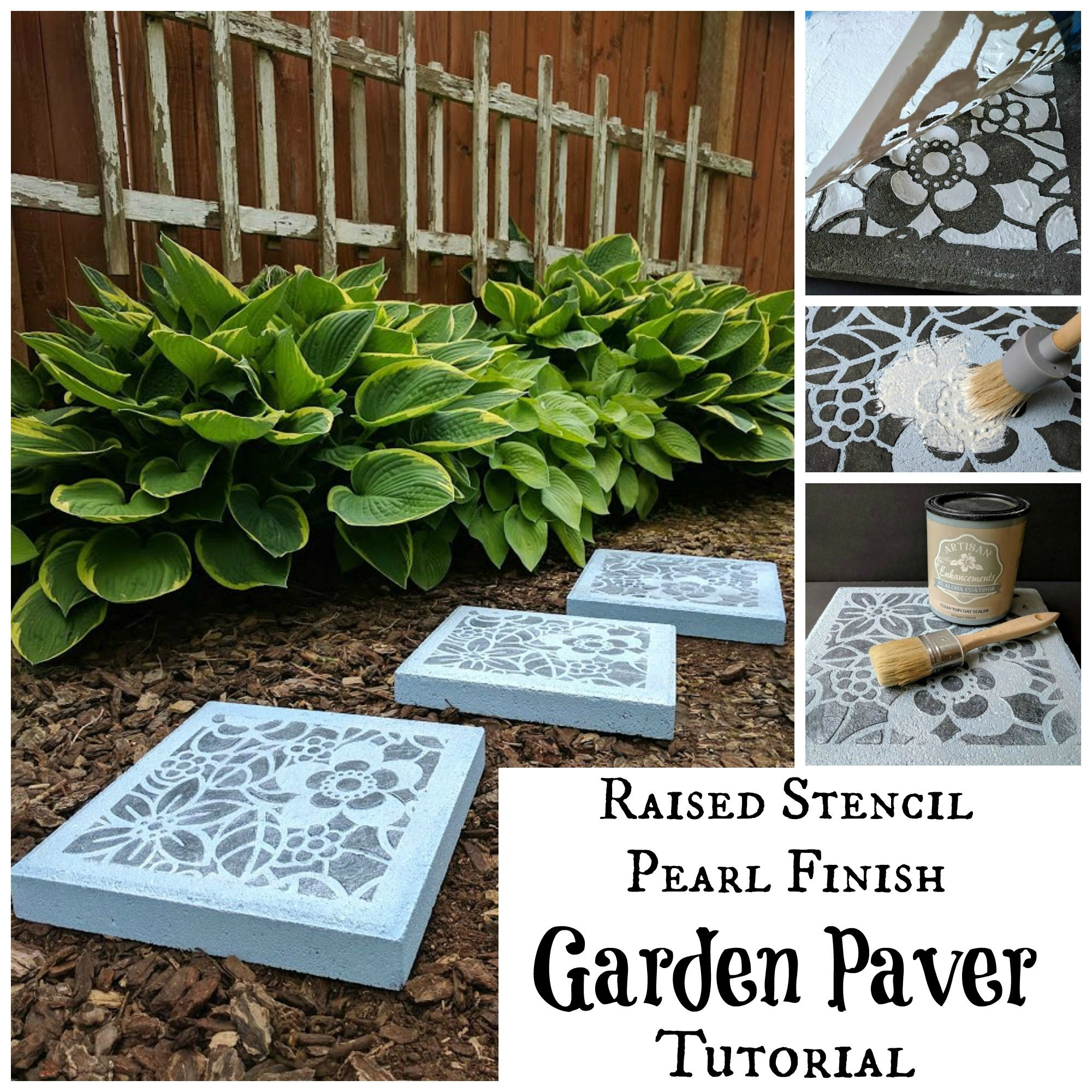 We created a fun raised design on plain garden pavers using Fine ...