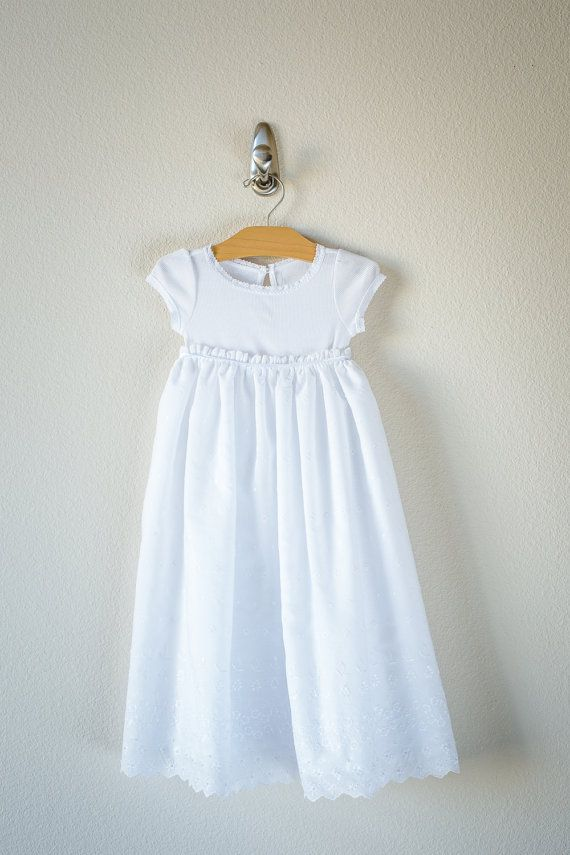 ribbons and lace baby girl infant baptismal dress