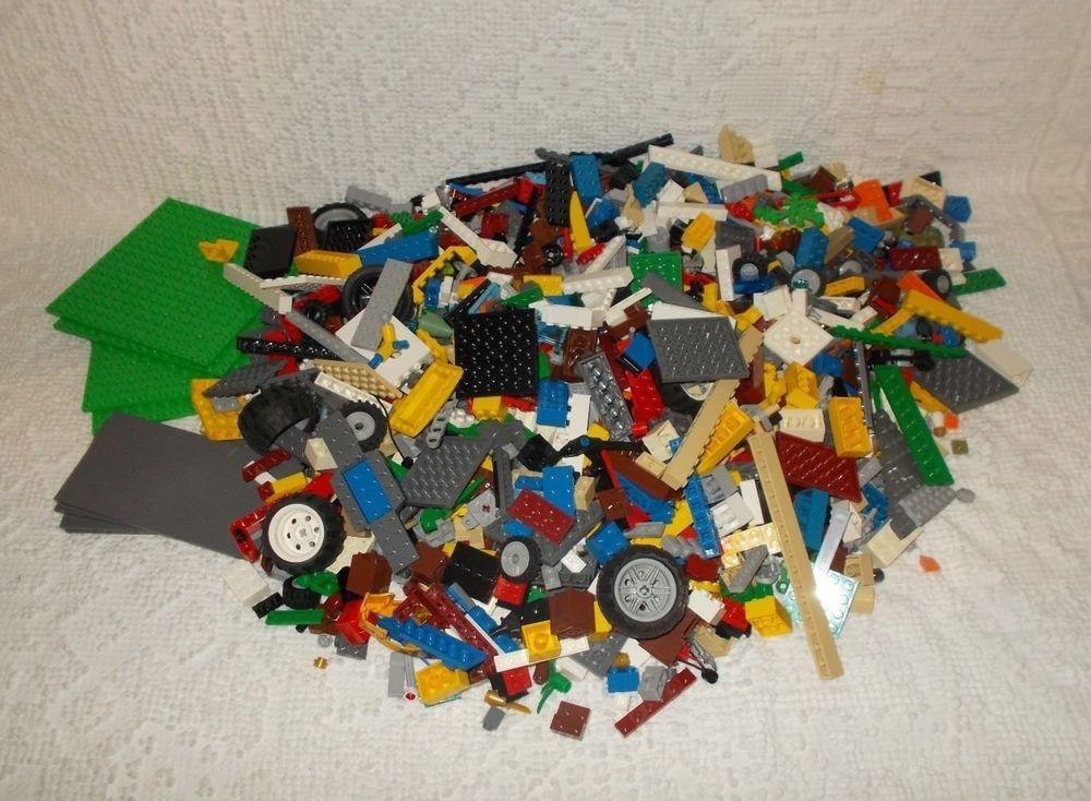 Genuine LEGO 5 LB Lot Loose Assorted Pounds Bulk Bricks Blocks Lot
