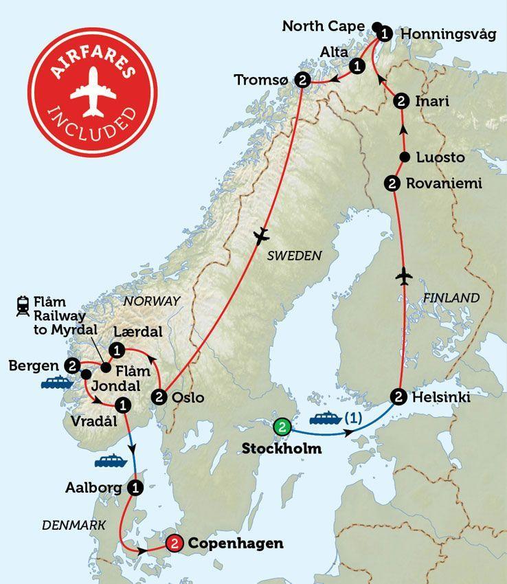 Scandinavian Discovery Bunnik Stockholm Copenhagen Scandinavia Travel Rovaniemi Travel Tours