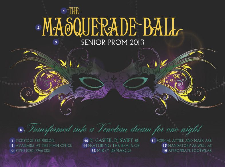 Masquerade Ball Theme Ideas I think this maybe a good idea for - prom tickets design