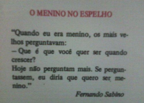 O Menino No Espelho De Fernando Sabino Meninas Fernando