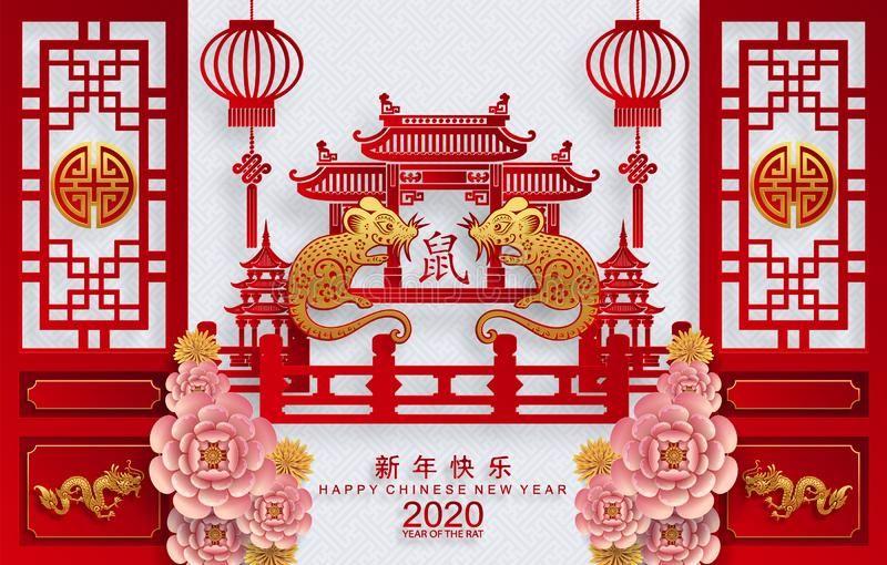 Happy Chinese New Year 2020 Year Of The Rat Happy Chinese New Year 2020 Year Of Sponsored Rat Paper Happy Chinese Tahun Baru Imlek Seni Meme Lucu