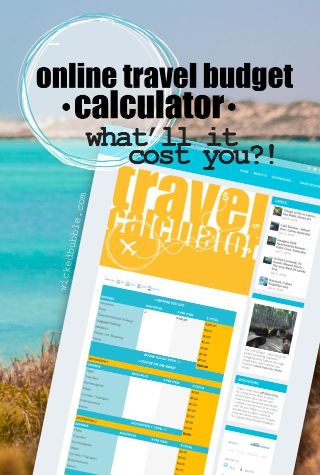 free travel budget calculator wicked bubble travel blog travel