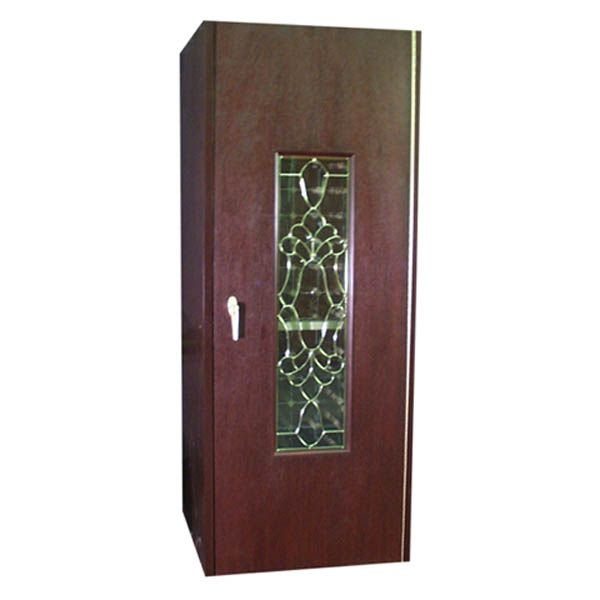 Vinotemp 300WCB Economy Wine Cabinet with Beveled Glass ...