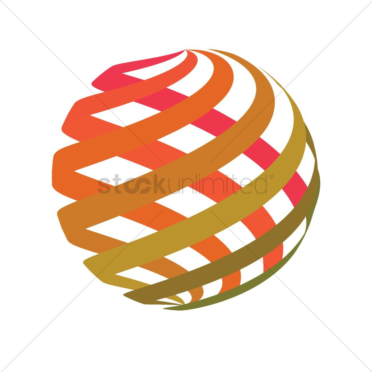 Spherical logo element design vectors stock clipart