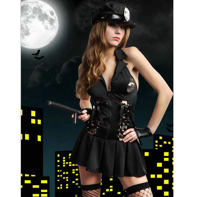 Click to Buy << 8606 Halloween Costumes For Women Police Cosplay ...