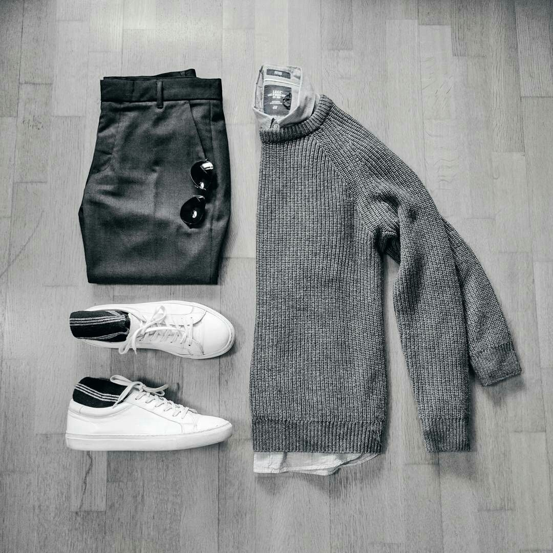 Outfit Grids For Minimalists, Minimal Outfit Grids For Men #mens #fashion #outfitgrids