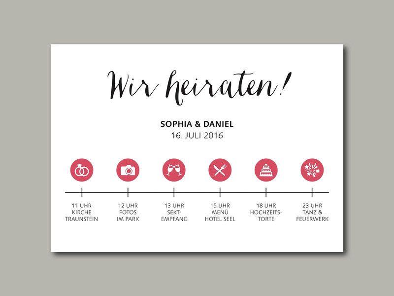 wedding invitation stationery timeline | hochzeitseinladung, Einladungsentwurf