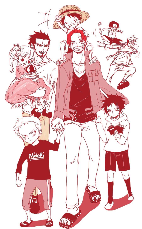 Team One Piece Shanks Trafalgar Law Monkey D Luffy