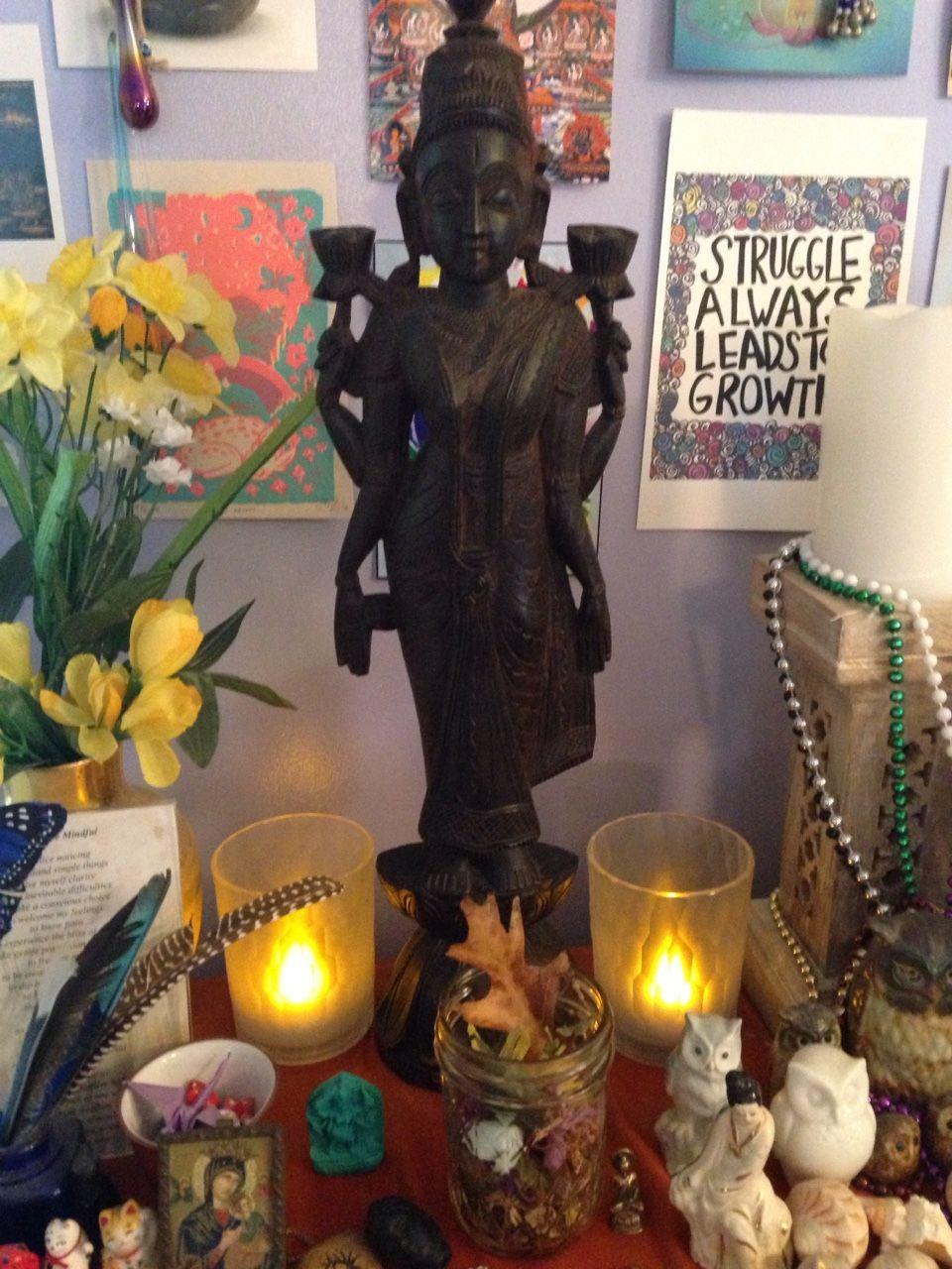 beautiful #meditation #shrine with #Lakshmi
