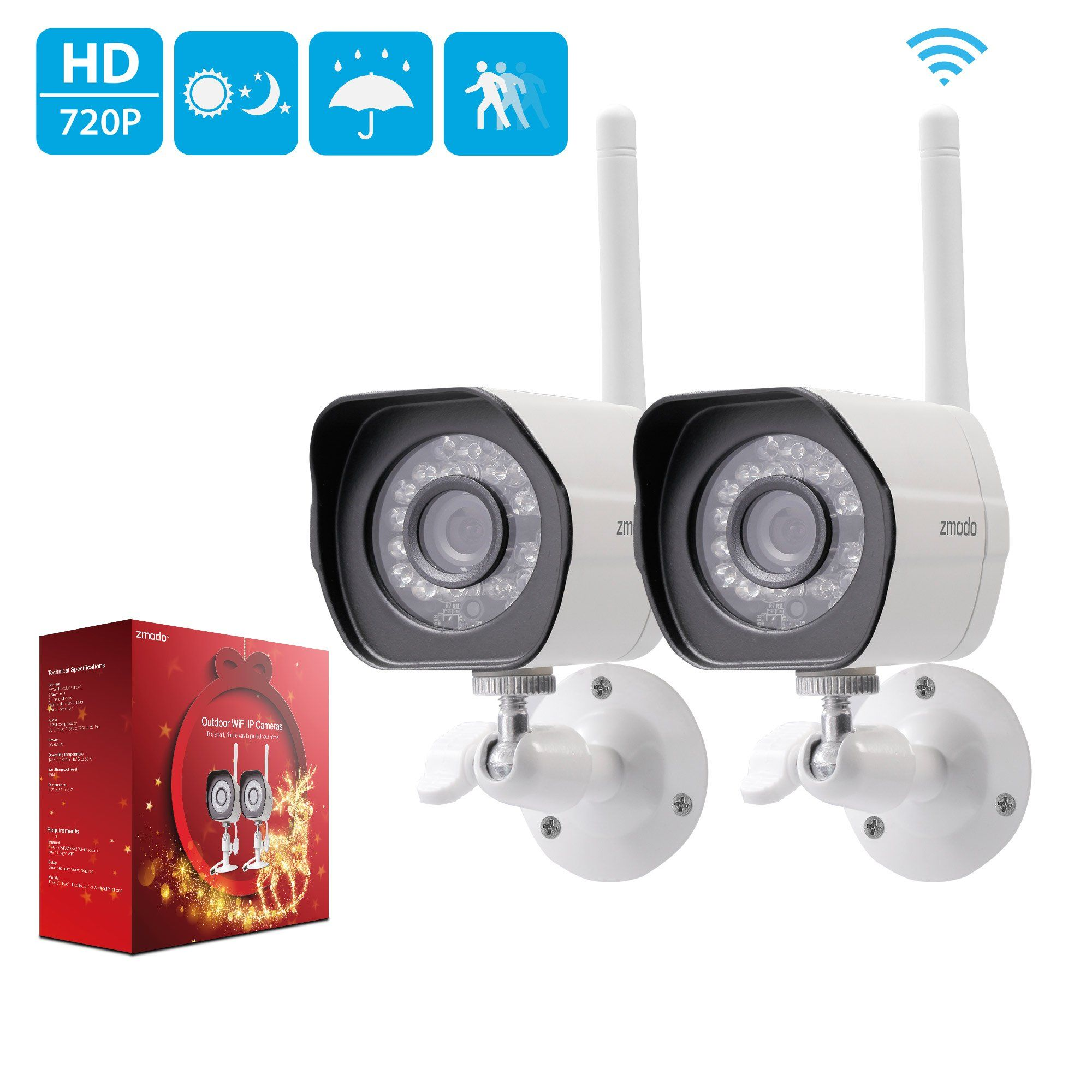 Zmodo 720p HD Outdoor IP Camera Home Wireless Security Camera System ...