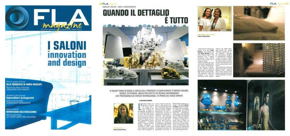 """VILLARI for the magazine """"Fla magazine"""" in april 2012"""