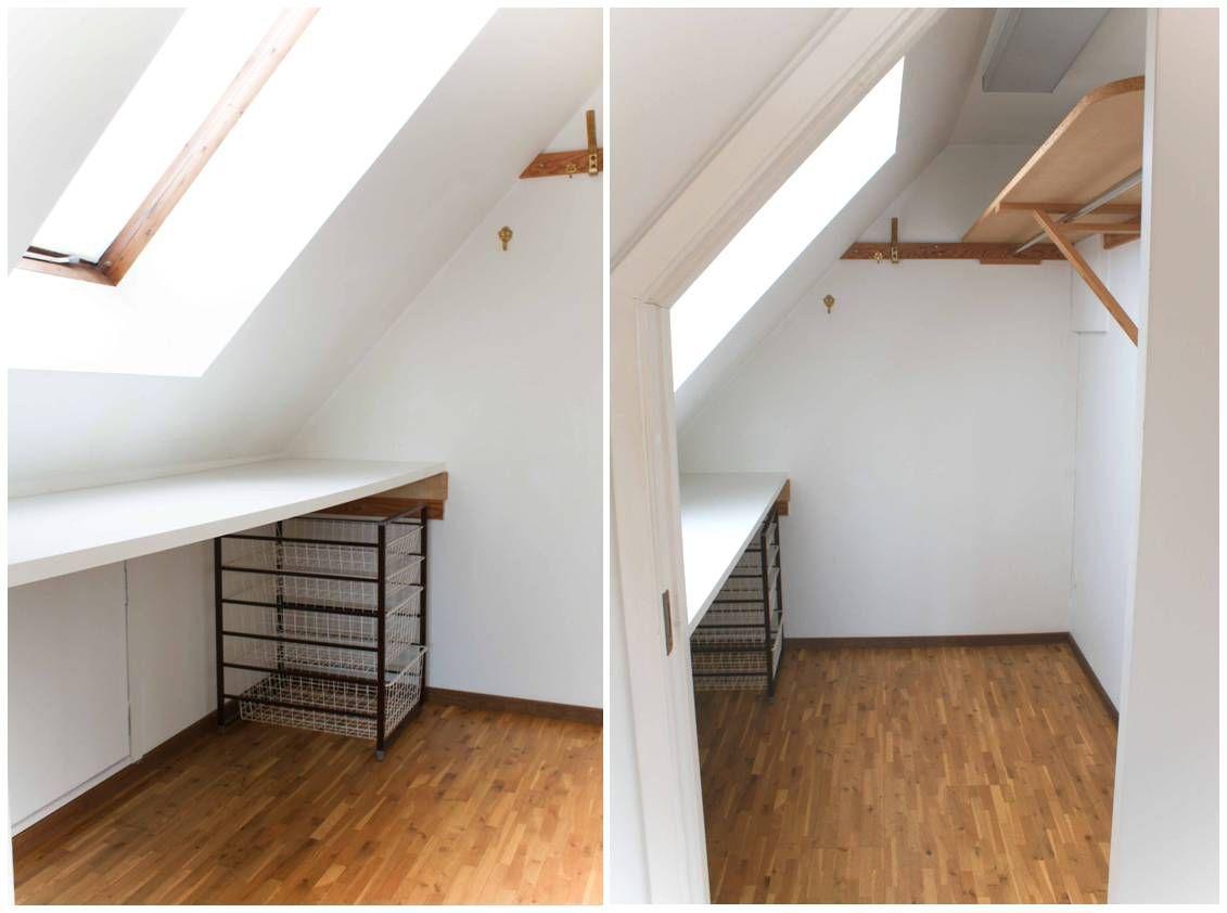 snedtak garderob klädkammare kattvind | interior design closet