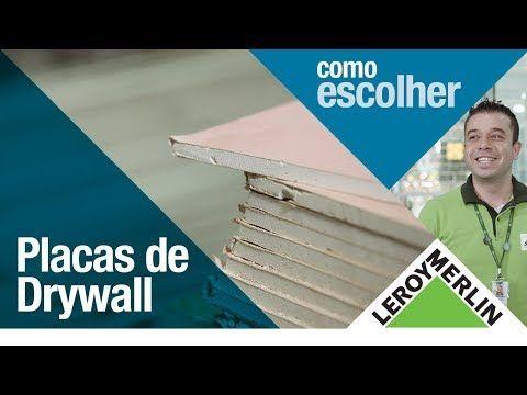 Como Colocar Placas De Gesso Drywall | Leroy Merlin   YouTube