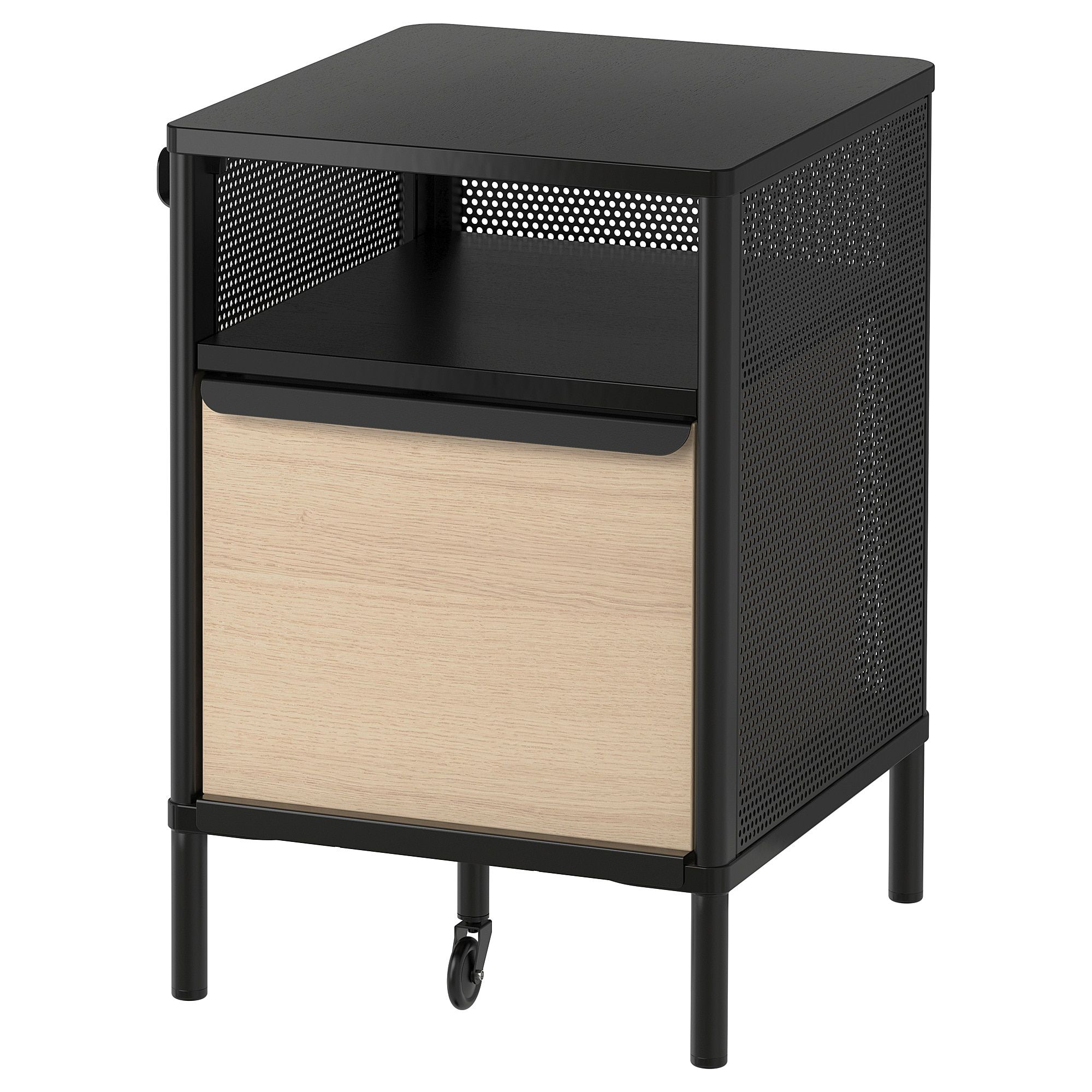 Cassettiere Di Plastica Ikea.Bekant Mobile Con Serratura Smart Rete Nero Contenitori Vari