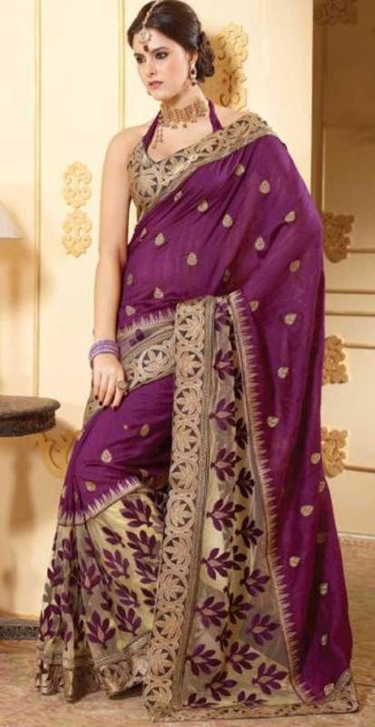 Indian Partywear Designer Saree Bollywood Bridal Wedding Silk Net