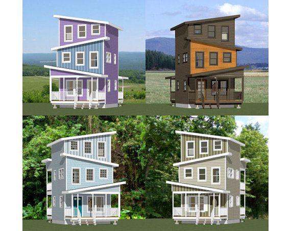 16x16 Tiny Houses    2 Bedroom 2.5 Bath    PDF Floor Plans