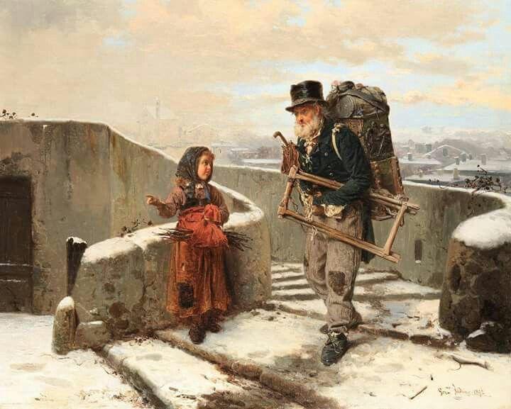 Il venditore ambulante Gerolamo Induno (1825-1890)