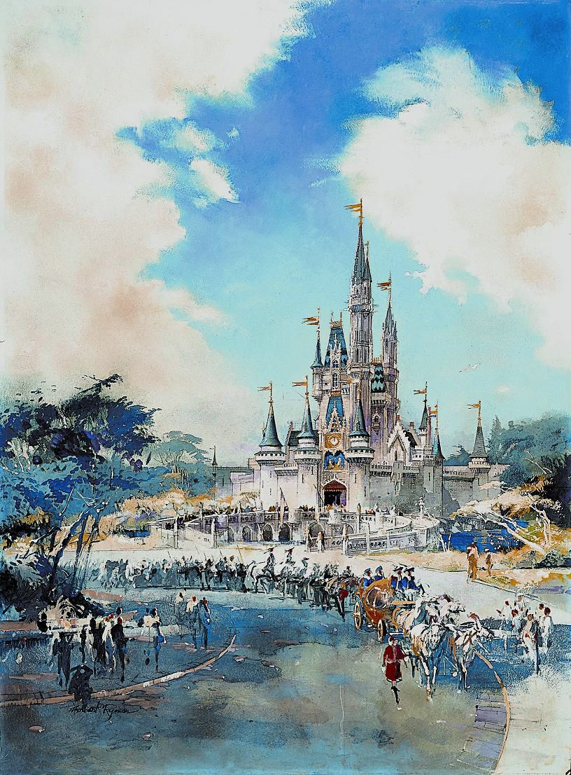 Cinderella Castle, Herb Ryman | Disney Concept Art | Pinterest ...