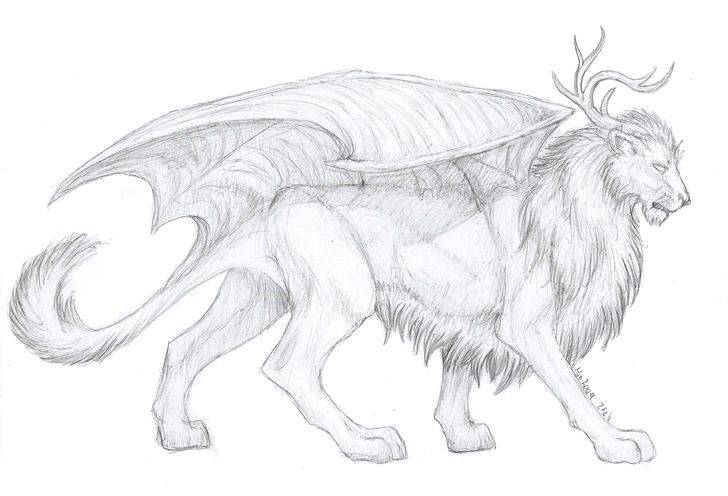 Мистические существа рисунки карандашом для срисовки