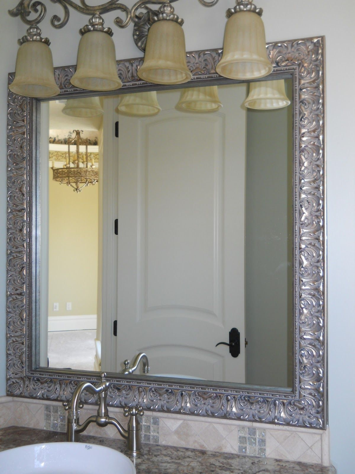 Mirror Frame Kit : Reflected Design, Custom Mirror Frame Kits   Bathroom  Mirror Kits