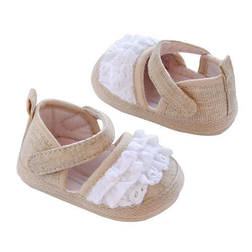 Carter S Girls Tan Ruffle Ankle Strap Espadrille Shoe Baby Girl Accessories Baby Girl Shoes Carters Girl