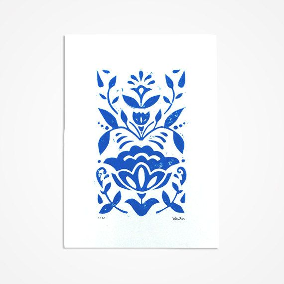 Year Of The Rabbit Printmaking Folk Art And Letterpresses Linocut Prints Scandinavian Folk Art Scandinavian Art