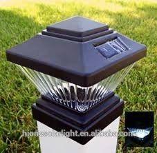Zaunpfosten Beleuchtung | Outdoor Garden Solar Led Post Deck Cap Square Solar Fence Post